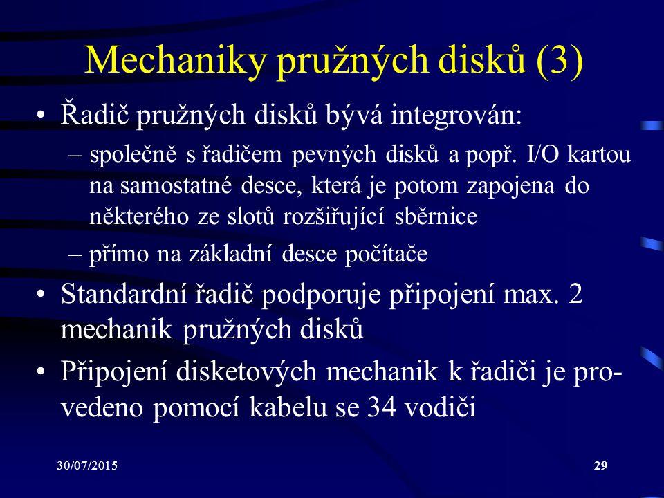 Mechaniky pružných disků (3)