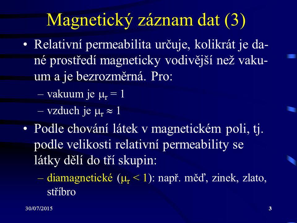 Magnetický záznam dat (3)