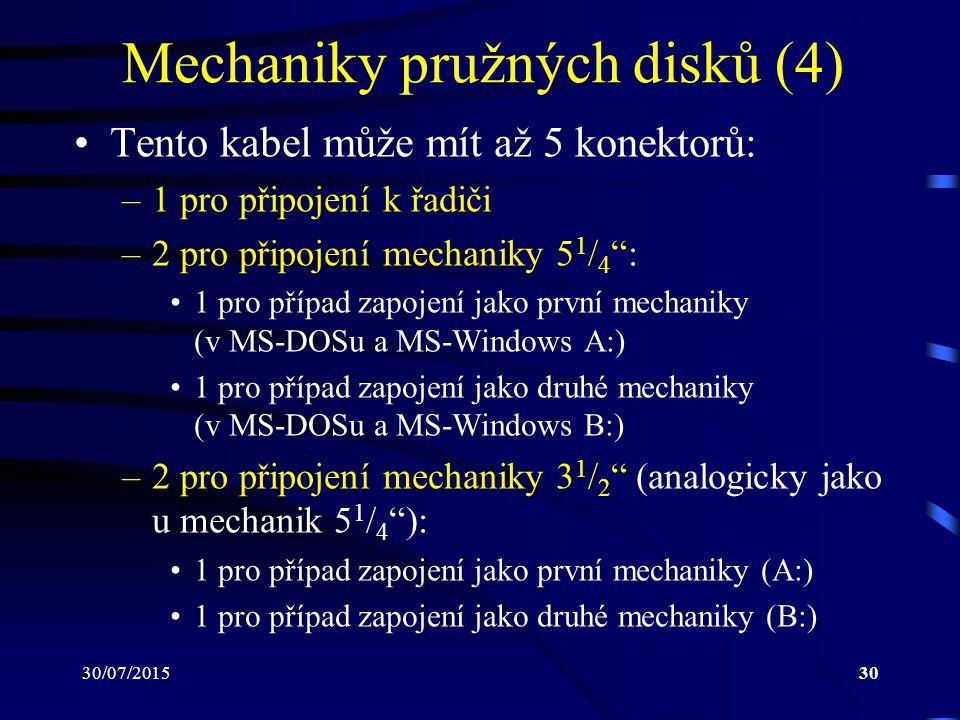 Mechaniky pružných disků (4)