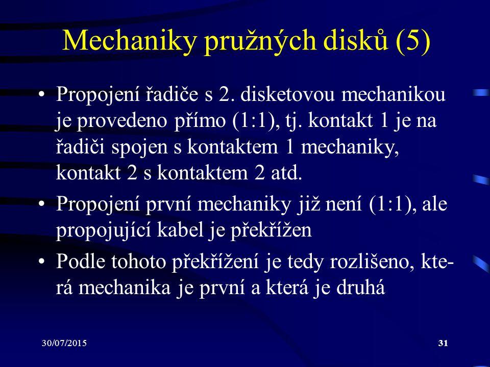 Mechaniky pružných disků (5)