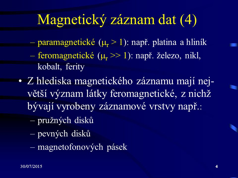 Magnetický záznam dat (4)
