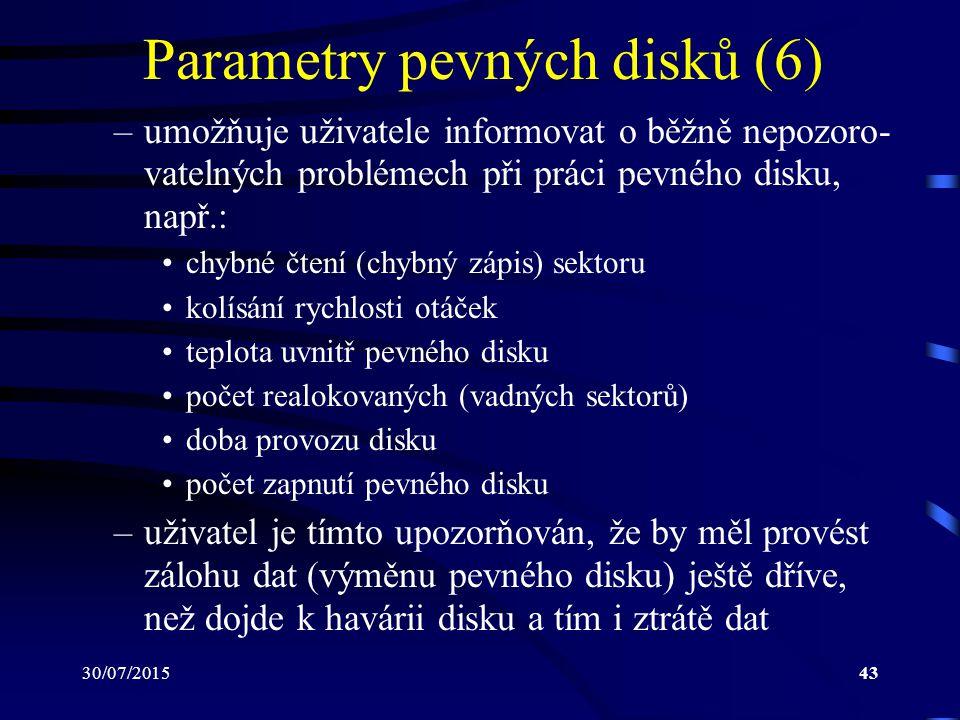 Parametry pevných disků (6)