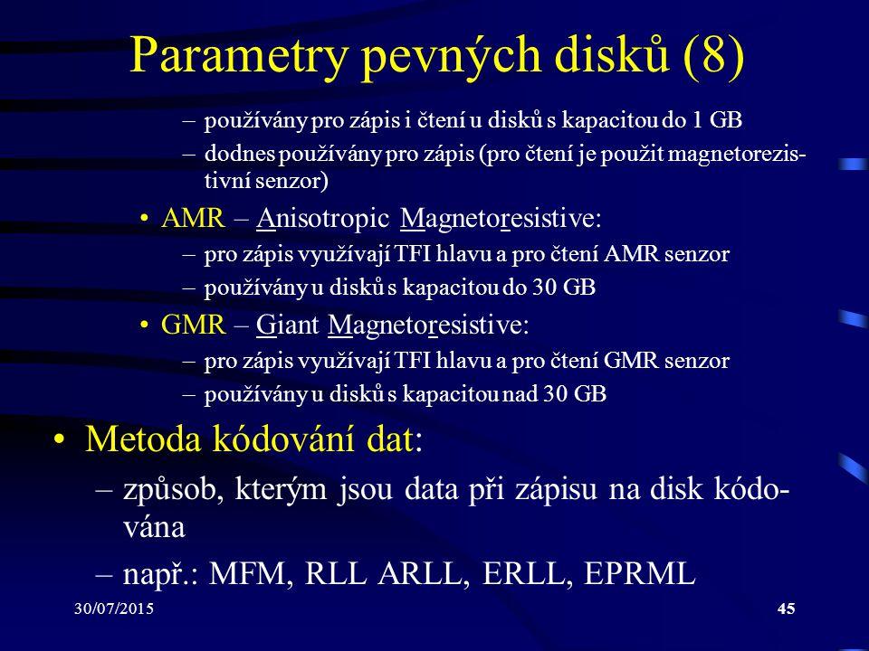 Parametry pevných disků (8)