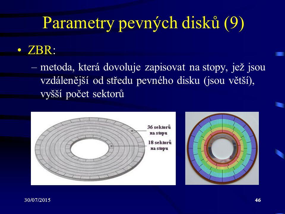 Parametry pevných disků (9)