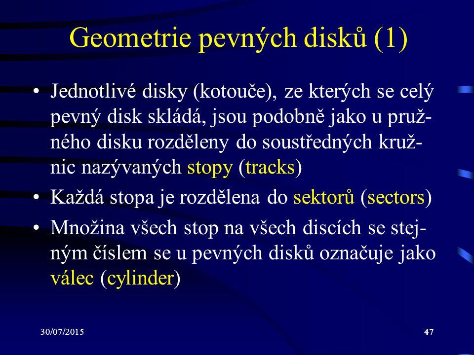 Geometrie pevných disků (1)