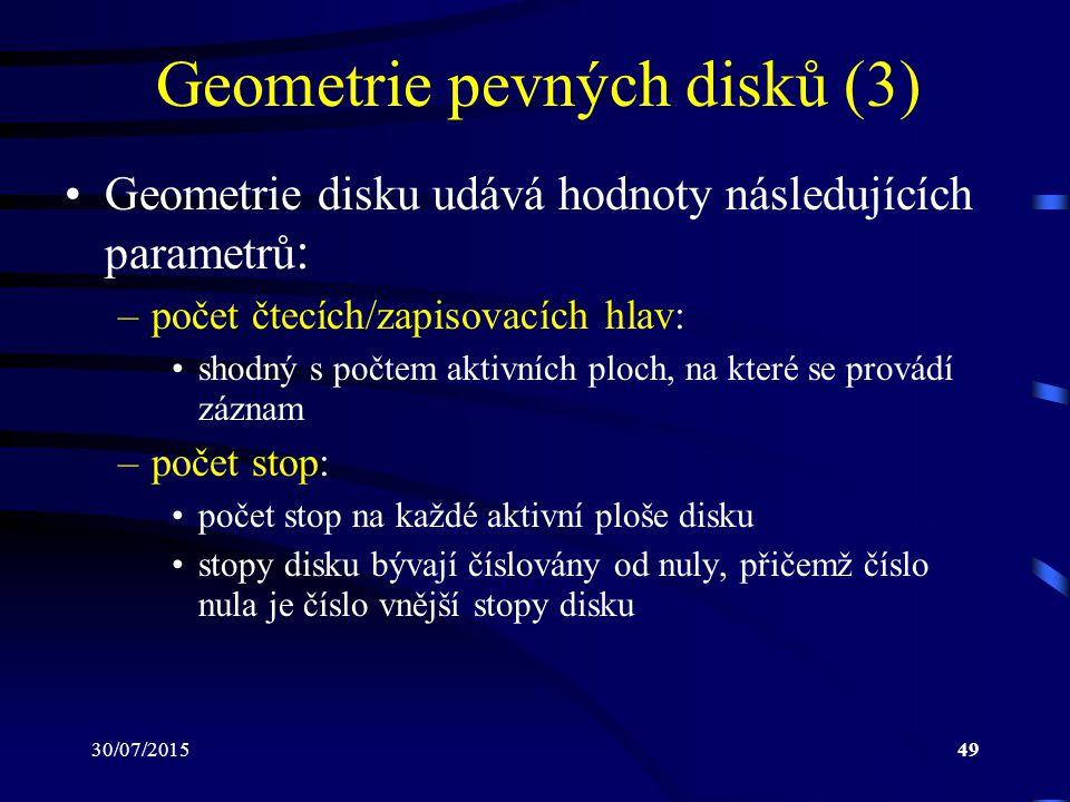 Geometrie pevných disků (3)