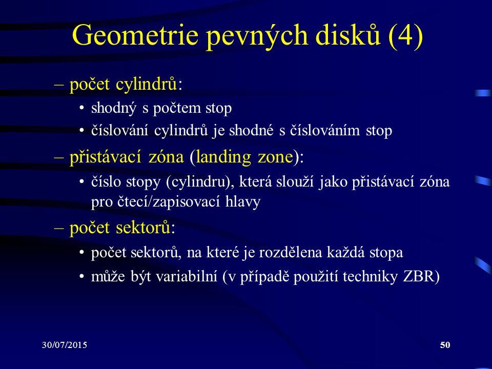 Geometrie pevných disků (4)