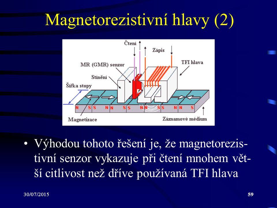 Magnetorezistivní hlavy (2)