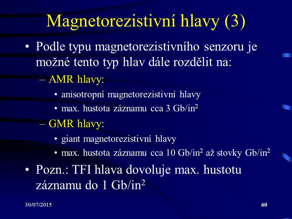 Magnetorezistivní hlavy (3)