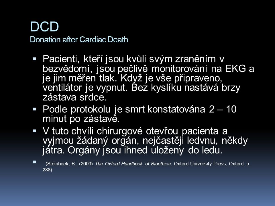 DCD Donation after Cardiac Death