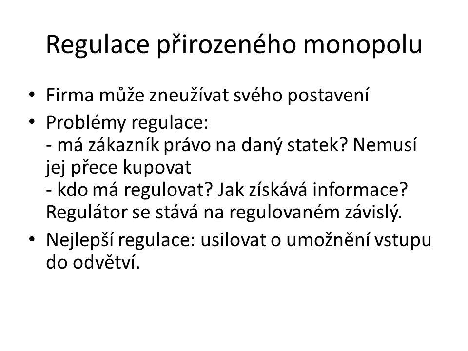 Regulace přirozeného monopolu