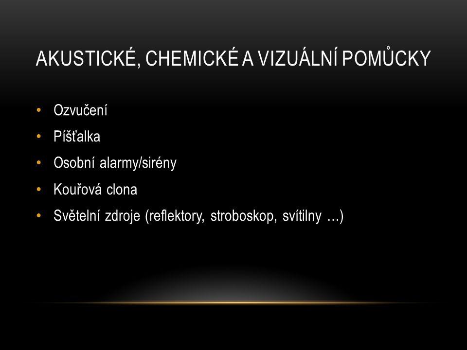 Akustické, chemické a vizuální pomůcky