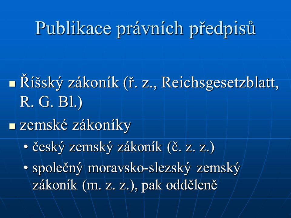 Publikace právních předpisů
