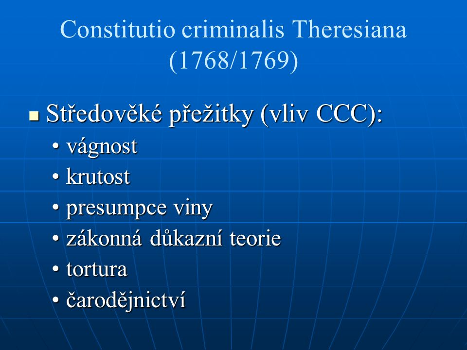 Constitutio criminalis Theresiana (1768/1769)
