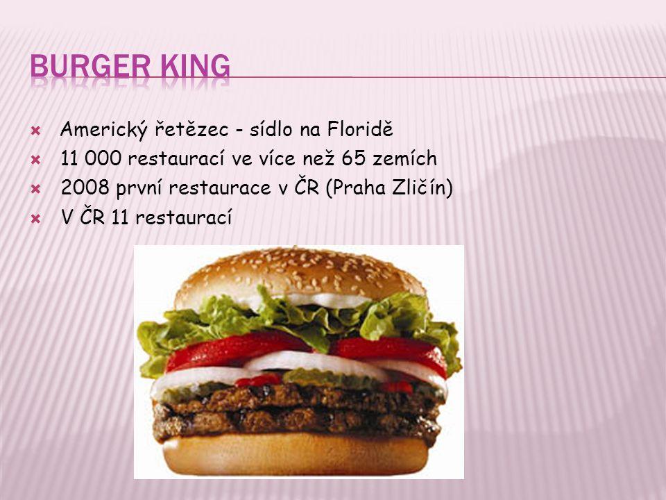 Burger King Americký řetězec - sídlo na Floridě