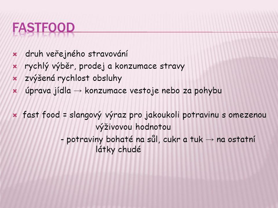 Fastfood druh veřejného stravování