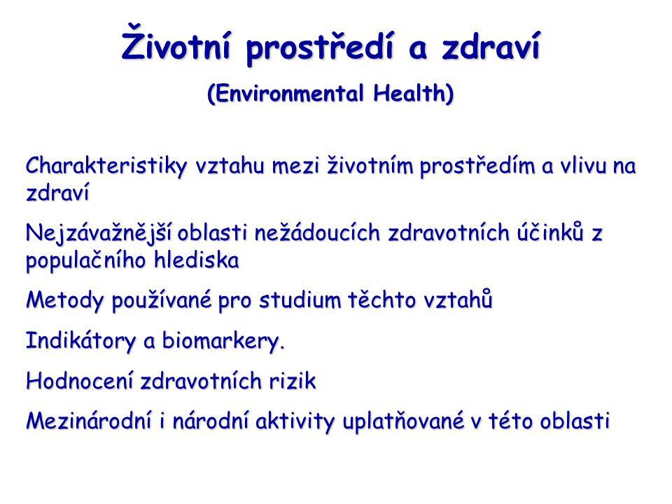 Životní prostředí a zdraví (Environmental Health)