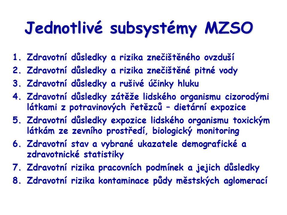 Jednotlivé subsystémy MZSO