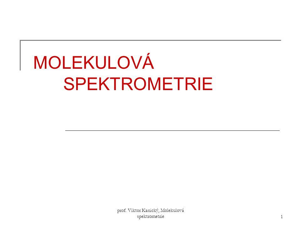 MOLEKULOVÁ SPEKTROMETRIE