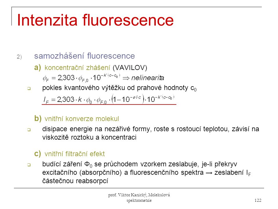 Intenzita fluorescence