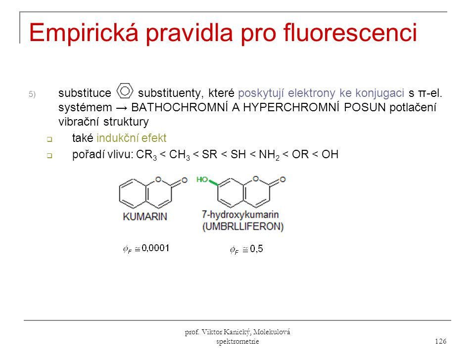 Empirická pravidla pro fluorescenci