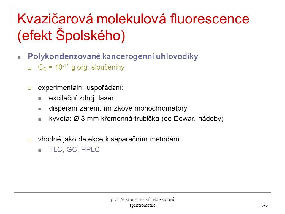Kvazičarová molekulová fluorescence (efekt Špolského)