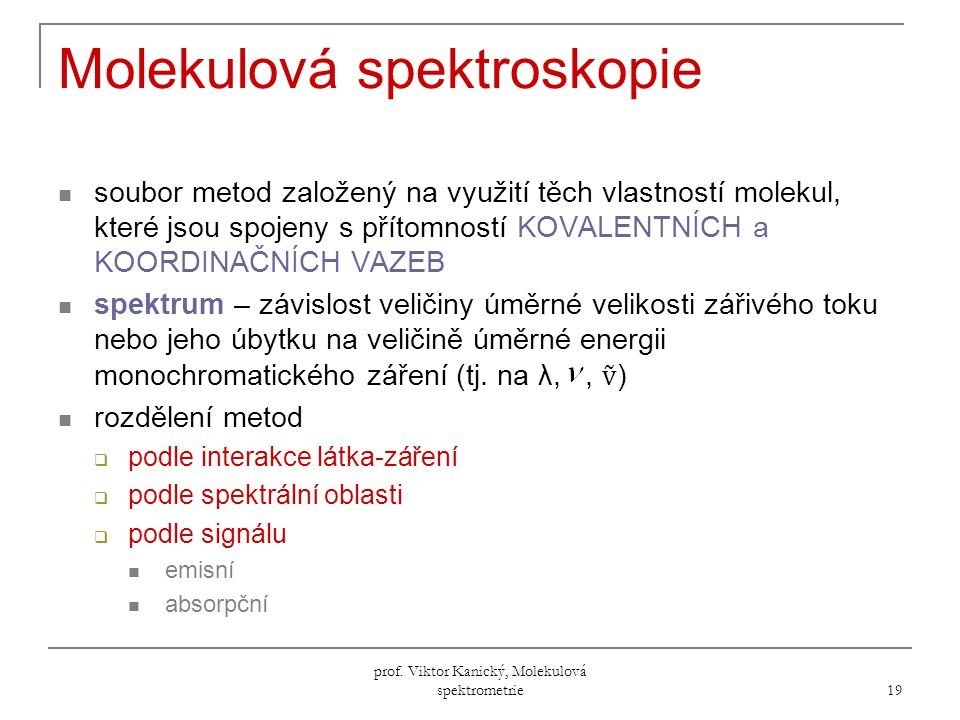 Molekulová spektroskopie