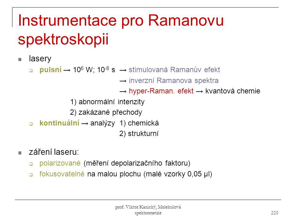 Instrumentace pro Ramanovu spektroskopii