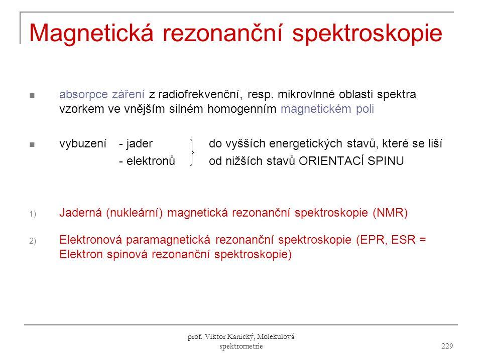 Magnetická rezonanční spektroskopie