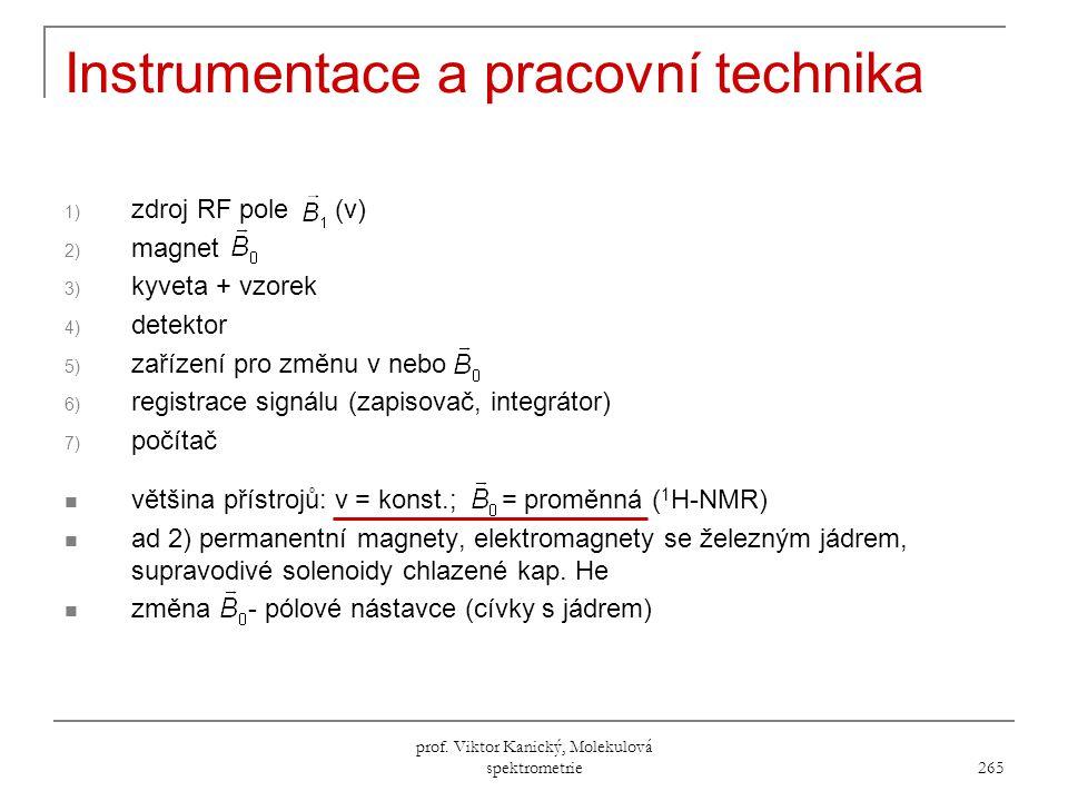 Instrumentace a pracovní technika