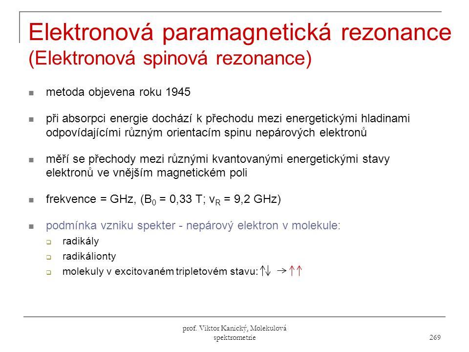 Elektronová paramagnetická rezonance (Elektronová spinová rezonance)