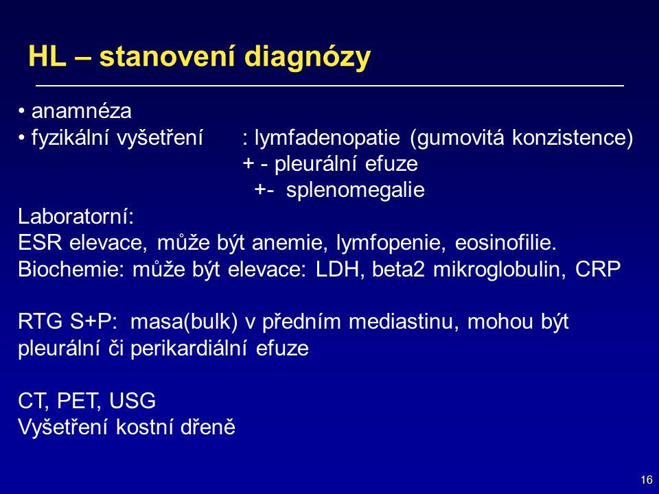 HL – stanovení diagnózy