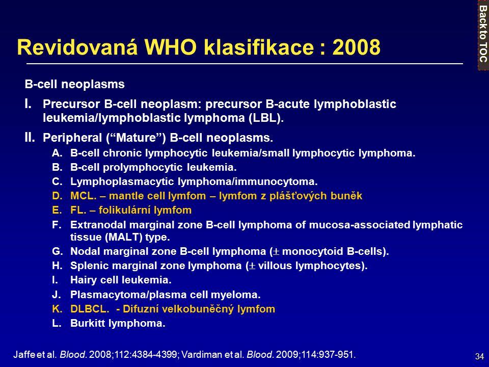 Revidovaná WHO klasifikace : 2008