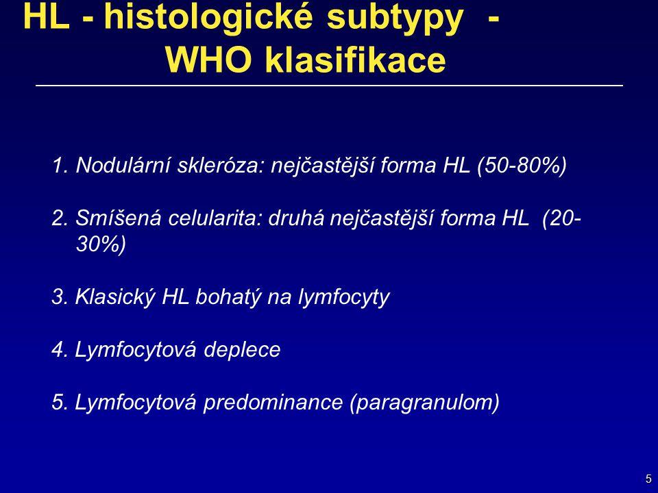 HL - histologické subtypy - WHO klasifikace