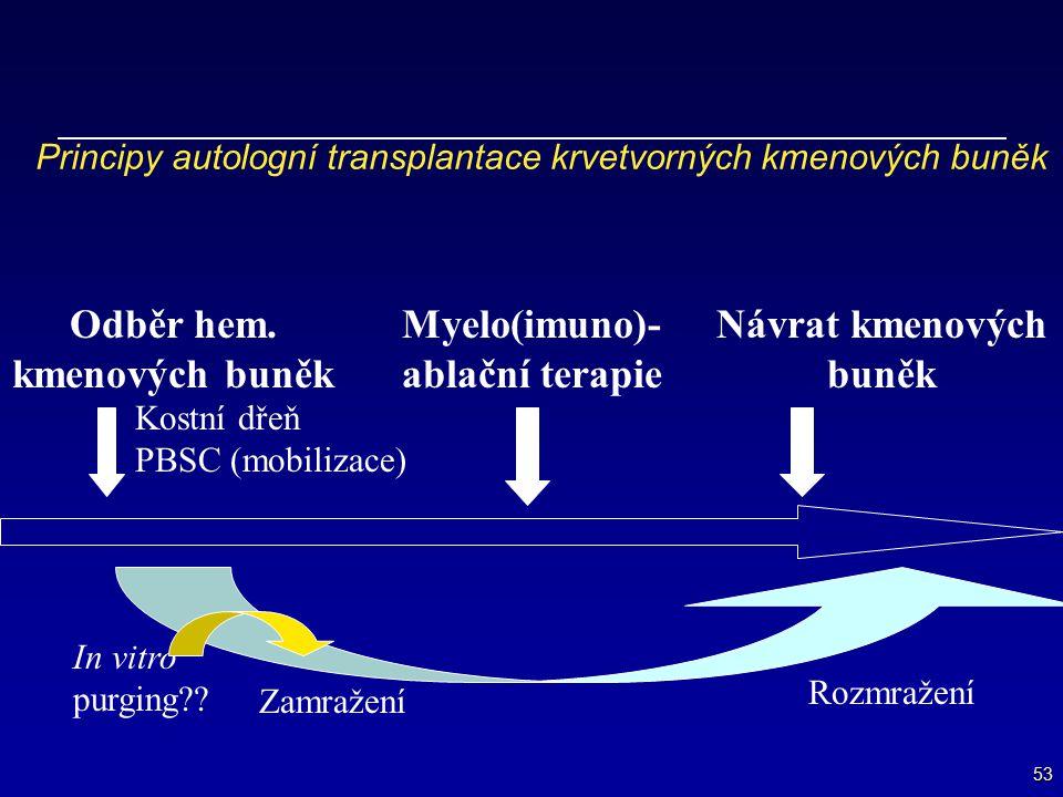 Principy autologní transplantace krvetvorných kmenových buněk