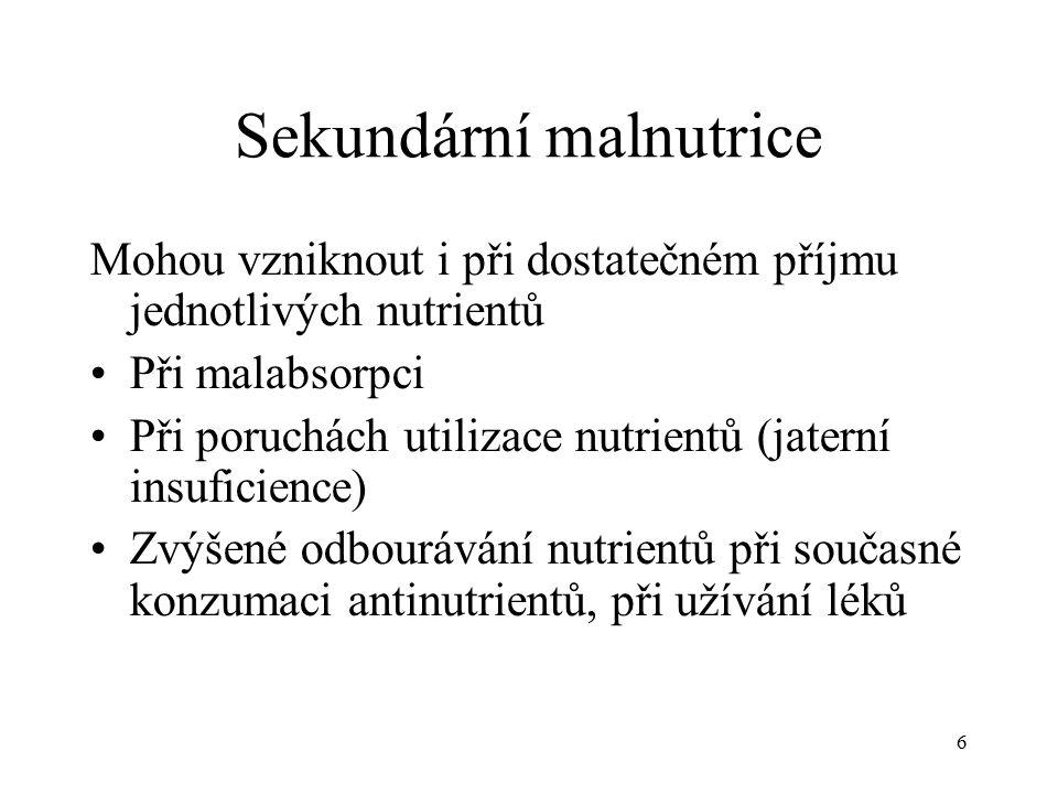 Sekundární malnutrice