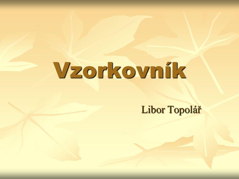 Vzorkovník Libor Topolář