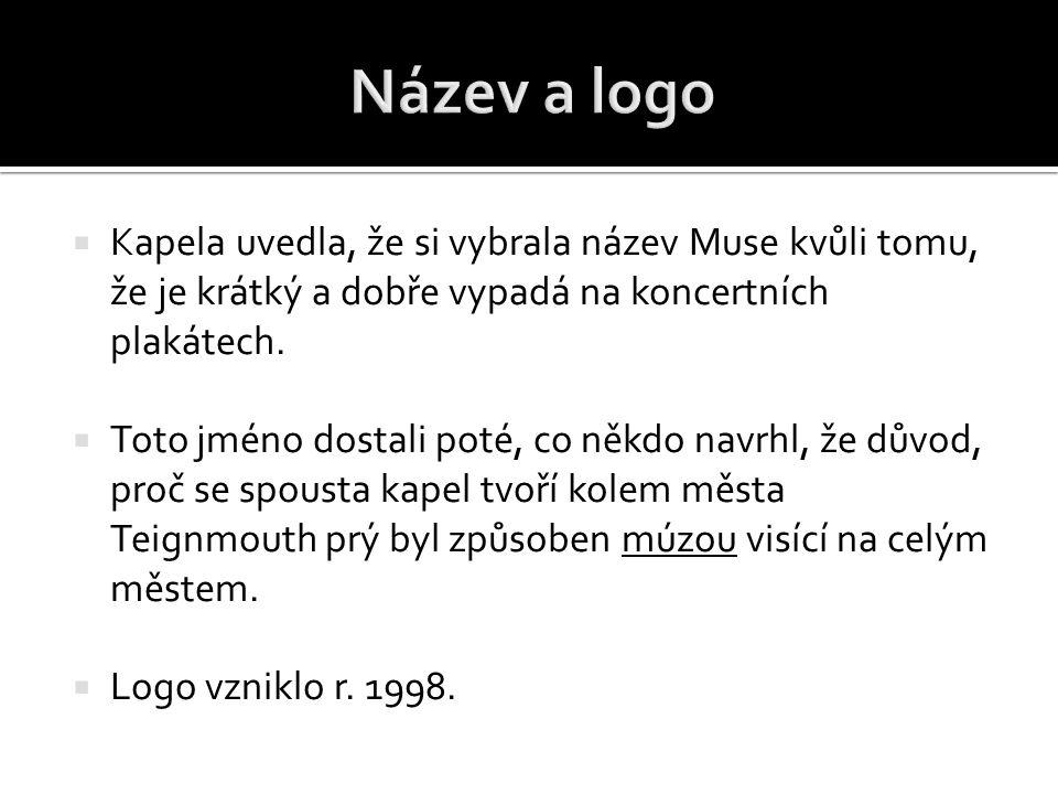 Název a logo Kapela uvedla, že si vybrala název Muse kvůli tomu, že je krátký a dobře vypadá na koncertních plakátech.