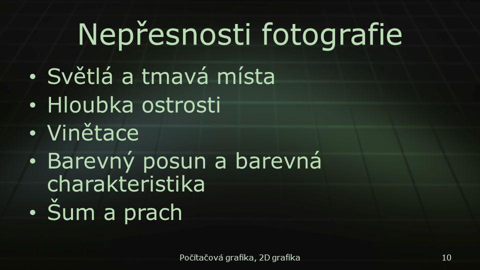 Nepřesnosti fotografie