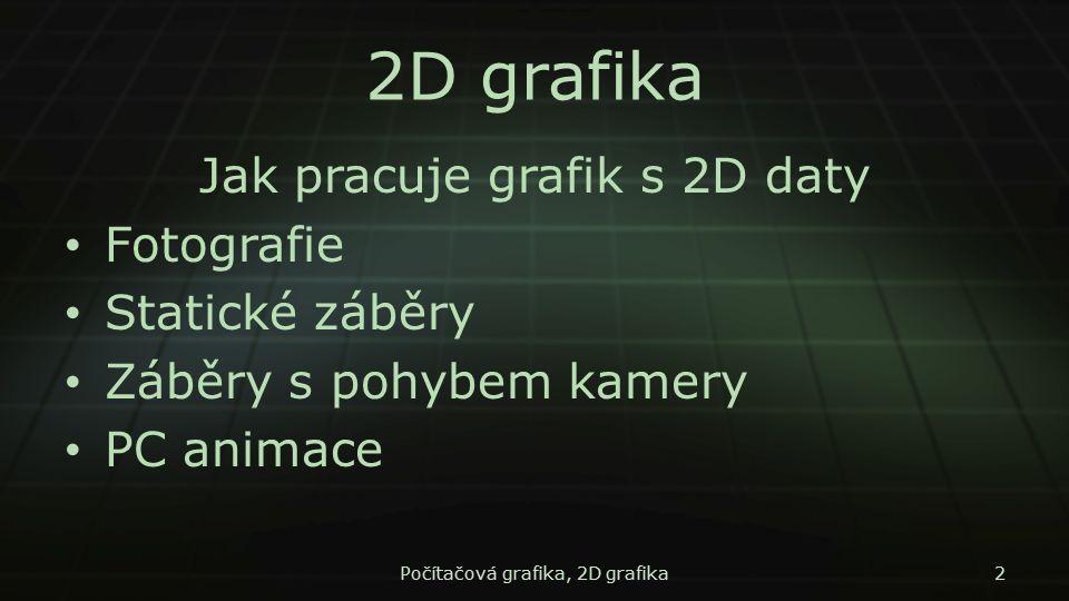 2D grafika Jak pracuje grafik s 2D daty Fotografie Statické záběry