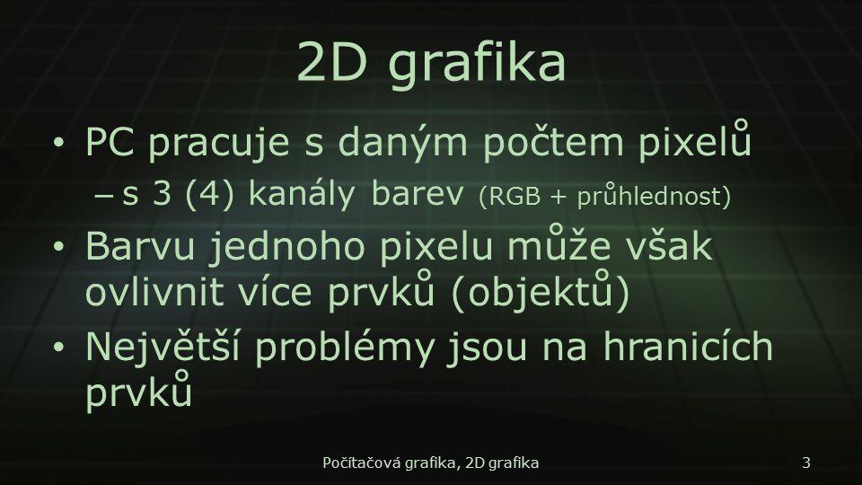 Počítačová grafika, 2D grafika