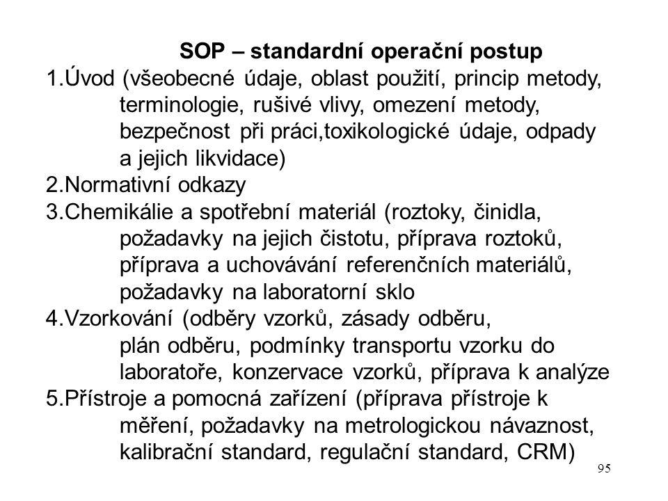 SOP – standardní operační postup