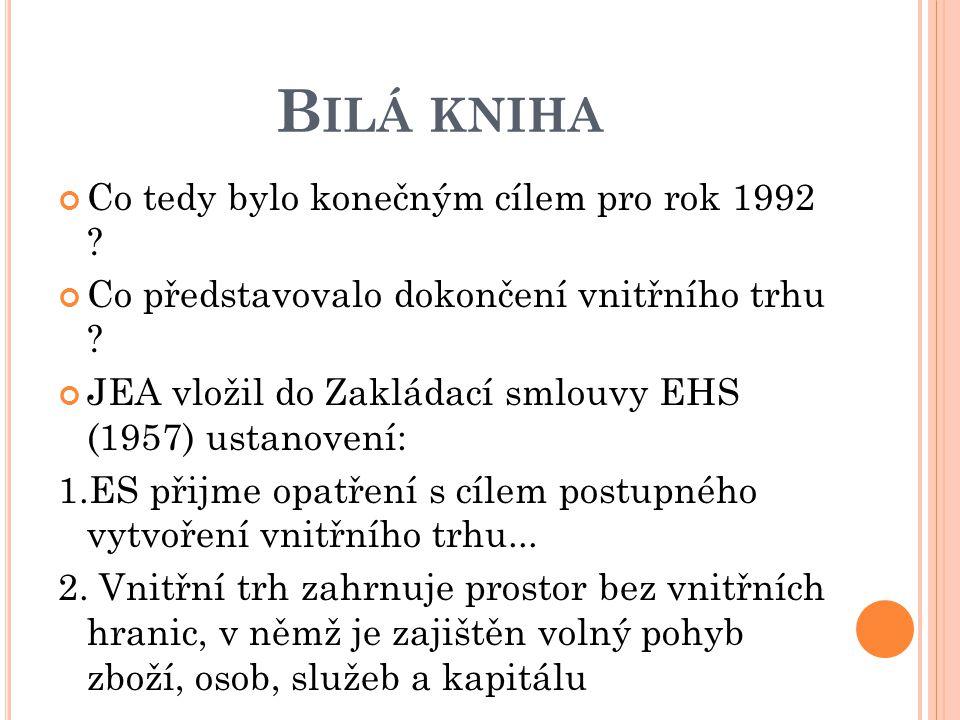Bilá kniha Co tedy bylo konečným cílem pro rok 1992