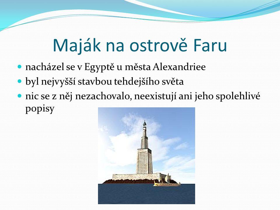 Maják na ostrově Faru nacházel se v Egyptě u města Alexandriee
