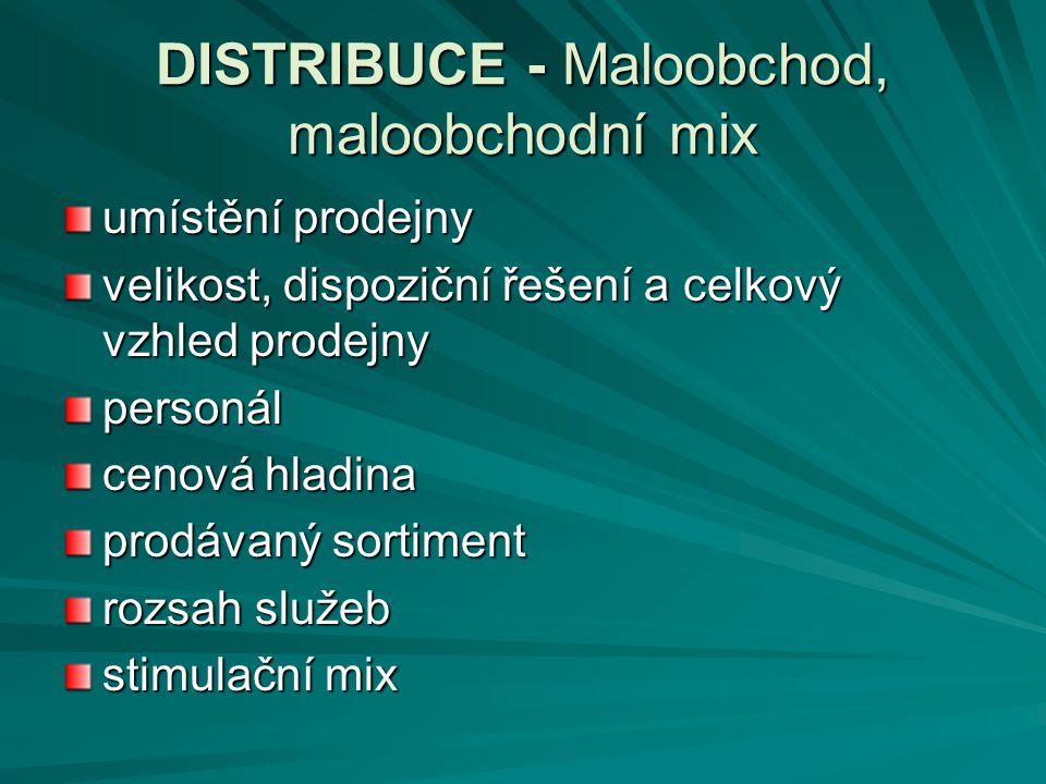DISTRIBUCE - Maloobchod, maloobchodní mix
