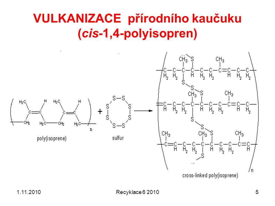 VULKANIZACE přírodního kaučuku (cis-1,4-polyisopren)
