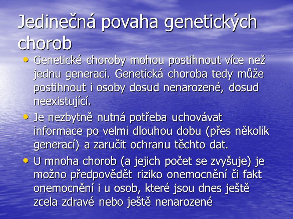 Jedinečná povaha genetických chorob