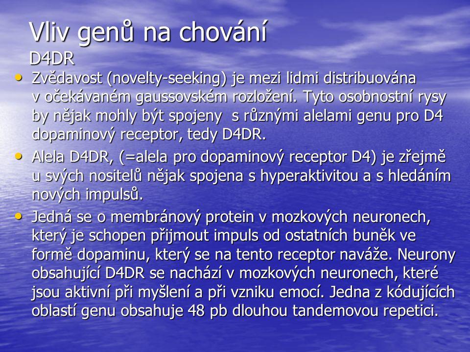 Vliv genů na chování D4DR