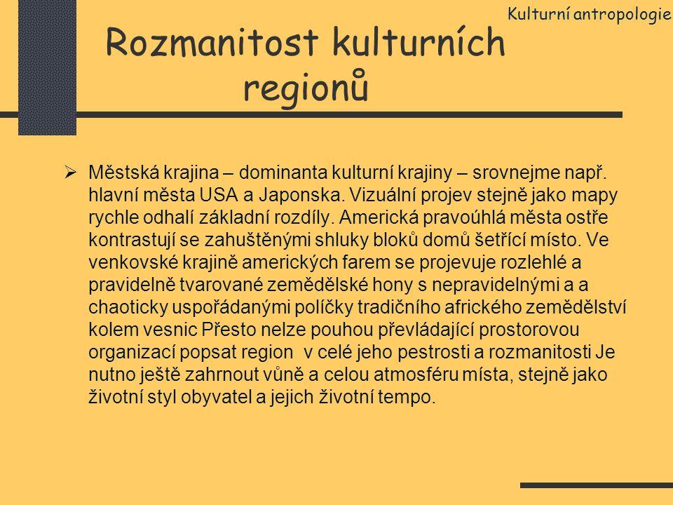 Rozmanitost kulturních regionů