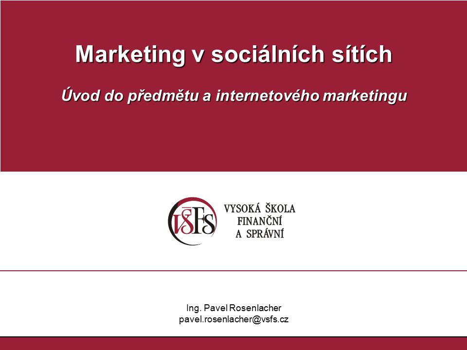 Marketing v sociálních sítích